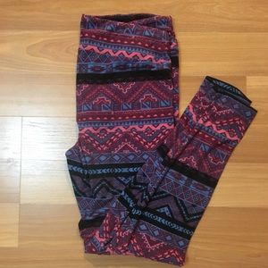 LuLaRoe Tall & Curvy Aztec print leggings